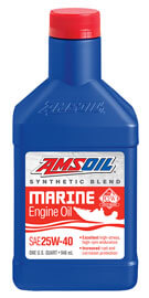 AMSOIL 25W-40 Synthetic Blend Marine Engine Oil